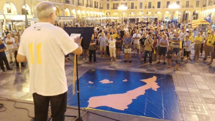 Manifestació a la Plaça Major de Palma el divenfres 9 de setembre