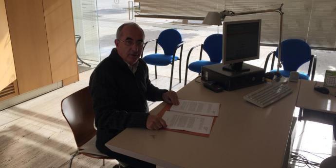 El president de l'ASM Cristòfol Soler en el moment de registar un dels recursos.